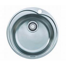 Кухонна мийка FRANKE RONDA вбудована зверху, 1-камерна матова Ø510 мм h180, хром 101.0255.783