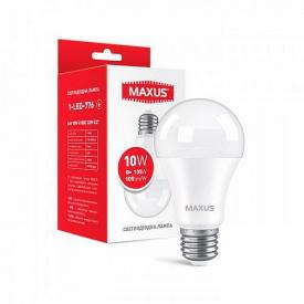 Лампа светодиодная Maxus A60 10W 4100К 220V E27