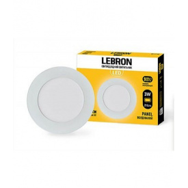 LED світильник LEBRON L-PR-341 3W вбудований 4100K з блоком живлення