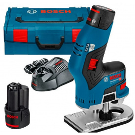 Фрезер акумуляторний Bosch Professional GKF 12V-8 в L-Boxx 136 із 2 акб GBA 12V 3.0Ah та з/п GAL 12V-40