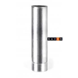Труба для дымохода термоизоляционная двустенная в оцинкованном кожухе 1м