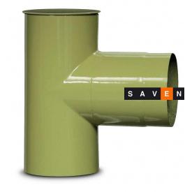 Трійник для димоходу емальований сталевий DOVRE 90° 120 E9