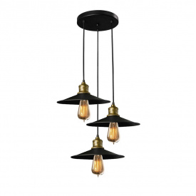Светильник подвесной в стиле лофт на три лампы MSK Electric NL 117-260-3R
