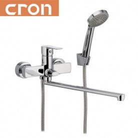 Смеситель для ванны длинный нос Cron Enzo EURO (Chr-006), водяной тракт - латунь