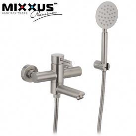 Смеситель для ванны короткий нос MIXXUS Sus (Chr-009), Польша (нержавеющая сталь)