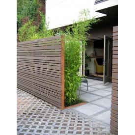 Забор Тип №4 Односторонний с промежутком 70-140х20 мм Дерево Карпаты (99168)