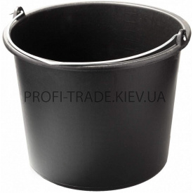 Ведро пластиковое черное 12 л ПТ-6250