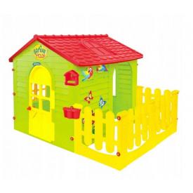 Дитячий пластиковий будиночок Mochtoys з терасою 10839