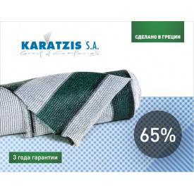 Сітка затінюють KARATZIS біло-зелена 65% (2х50м)