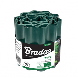 Бордюрная лента волнистая Bradas 9м х 15см (OBFG 0915)