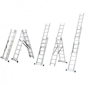 Лестница трехсекционная раскладная Flora 12 ступеней (5032354)