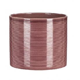Кашпо для цветов Scheurich Inspiration 3,95л керамическое баклажан