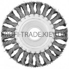 BT-7125 Щетка дисковая 125x22 мм (плетеная проволока) (60/1)