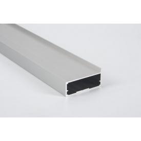 Алюминиевый рамочный профиль для мебельных фасадов М 11 5,95 м алюминий BRUSH