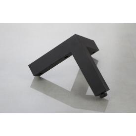 Меблева ніжка Poliplast НП-9 регульована пластикова чорна 120 мм