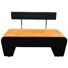 Кухонная лавка Ribeka Альфа 2 Оранжевый с черным (53A10)