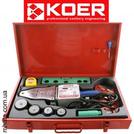 Паяльник для полипропиленовой трубы KOER SET-02 (1500Вт,4 насад,ножн,рулетка,2 заглуш,уровень)