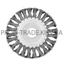 BT-7115 Щетка дисковая 115x22 мм (плетеная проволока) (60/1)