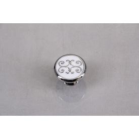 Мебельная ручка Falso Stile РК-668хром глянцевый с белой эмалью