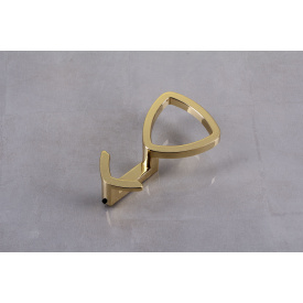 Мебельный крючок Falso Stile KK-18 двойной - золото глянцевое