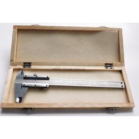 Штангенциркуль механічний 150 мм в дерев'яній коробці ПТ-6247