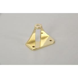 Адаптер АК-11 Falso Stile для крепления мебельной ручки на складные фасады из алюминиевых фасадных профилей золото глянец