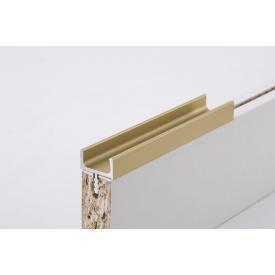 Мебельная ручка профильная врезная Н1 для ДСП 18мм длина 5,95м золото (цена 1пог.м)