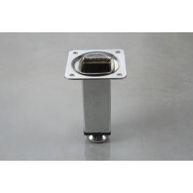 Мебельная ножка GTV с регулировкой SQA 100 100 мм хром