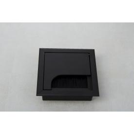 Заглушка под провода GTV квадратная черная(пропуск для кабеля)