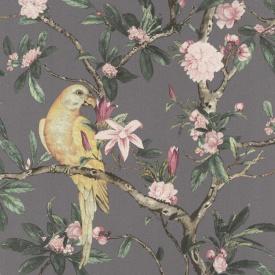 Виниловые обои на флизелиновой основе Rasch Poetry 2 543346 Фиолетовый-Желтый-Розовый