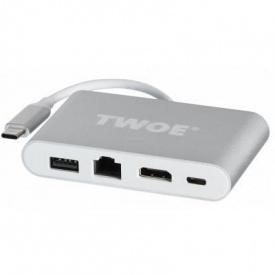 Переходник 2E Type-C to USB3.0 + Gigabit + HDMI + USB Type C 0.15 м (2EW-2532)