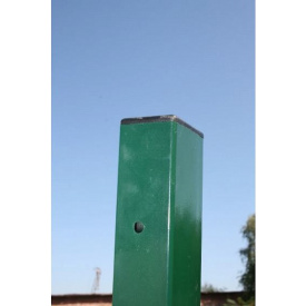 Столб для забора из профильной оцинкованной трубы с полимерным покрытием 50x50x2,0 мм 2,5 м