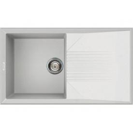 Кухонна мийка Adamant NOVAK 860х500х240, з сифоном, 01 білий