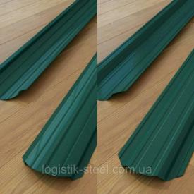 Штакетник двухсторонний 0,45 мм глянец зеленый (RAL 6005) (Словакия)