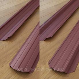 Штакетник двухсторонний 0,5 мм мат вишневый (RAL 3005) (Корея)