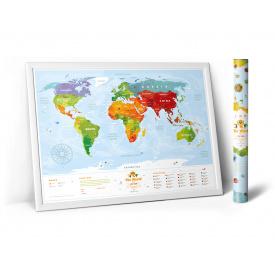 Скретч карта мира Travel Map Kids Animals