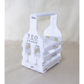 Підставка для вина Холодна ковка Прованс Келих на 6 пляшок білий
