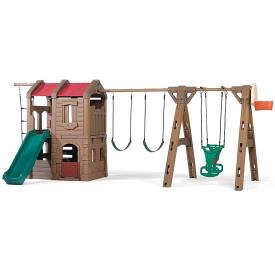 Детский игровой комплекс Adventure lodge play center with glider