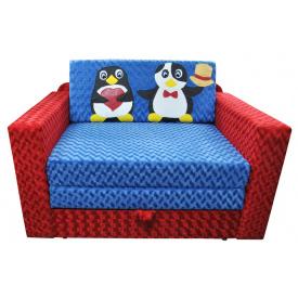 Малютка диван Ribeka Пингвинчики Алый (07M04)