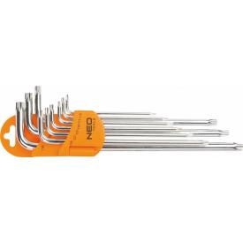Набір шестигранних ключів NEO Tools Torx 9 шт з магнітом (09-526)