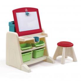 Детский стол FLIP&DOODLE для творчества 66x60x48 см со стулом 30x31x31 см и доской