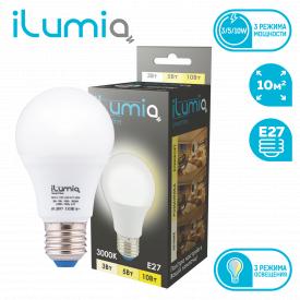 Светодиодная лампа ilumia 063 IL-10D-A60-E27-WW 1000Лм 10Вт Е27 3000К диммер.