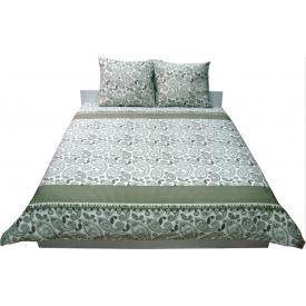 Комплект постельного белья Руно сатин 40-0377 Green khaki двуспальный