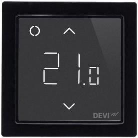 Сенсорный Wi-fi программируемый регулятор для теплого пола DEVIreg Smart /черный