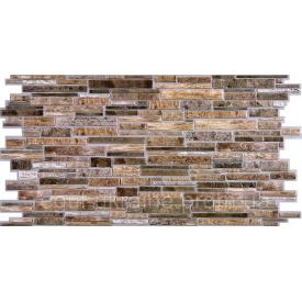 Камень ПВХ Регул Пластушка коричневая 0,4х489х980 мм