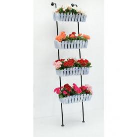 Подставка для цветов Холодная ковка Лестница 4 Кантри