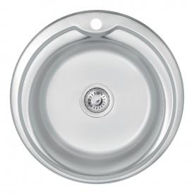 Кухонная мойка Lidz 510-D 0,6 мм Satin (LIDZ510D06SAT)