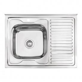 Кухонная мойка Lidz 6080-L 0,6 мм Polish (LIDZ6080LPOL06)