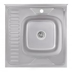 Кухонная мойка Lidz 6060-R 0,6 мм Decor (LIDZ6060RDEC06)