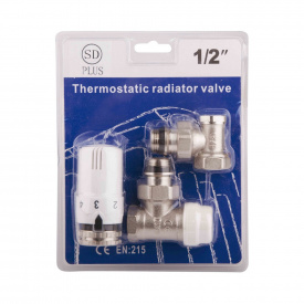 "Комплект термостатичний SD Plus 1/2"" для радиатора угловой SD352W15"